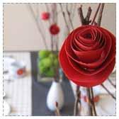 Paper Roses on Sticks