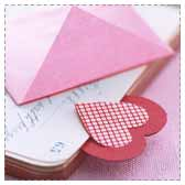 Make Paper Heart Bookmarks
