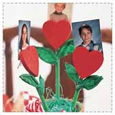 Make a Heart Bouquet Photo Holder