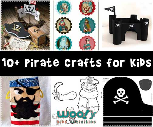 10+ Pirate Crafts for Kids