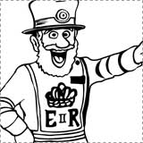 London Beefeater Coloring Page