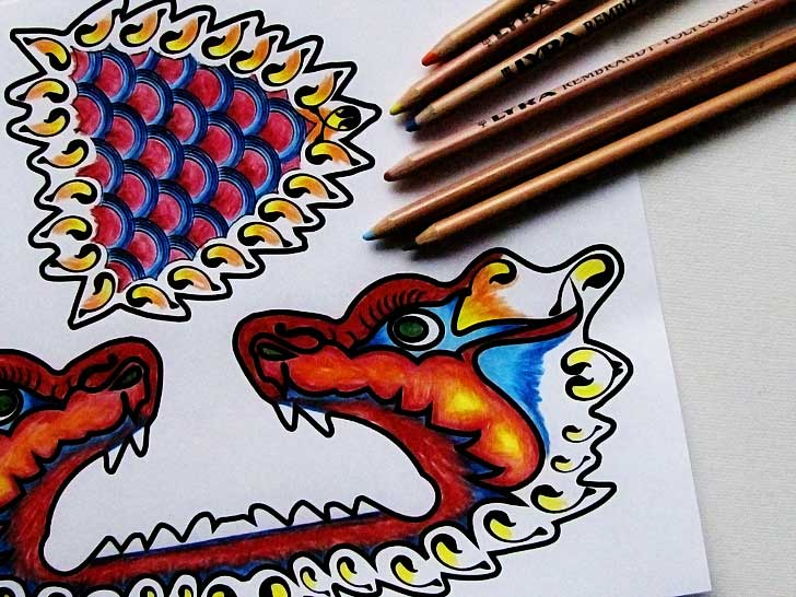 Printable Dragon Paper Craft