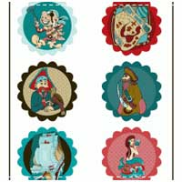 Pirate Party Cupcake Toppers, Wrappers & Banner