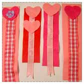Make Ribbon Heart Bookmarks