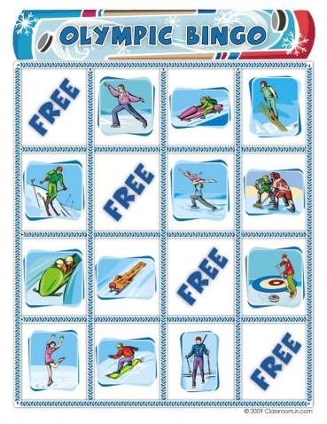 Free Winter Olympics Bingo Game