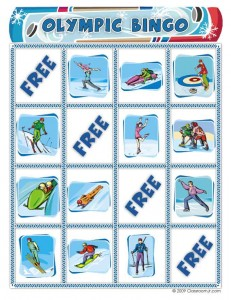 Olympics Bingo Cards