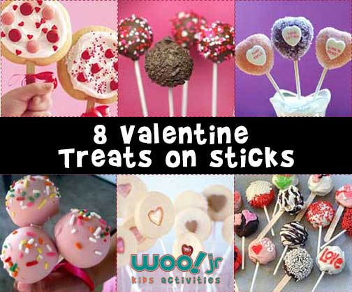 8 Valentine  Treats on sticks