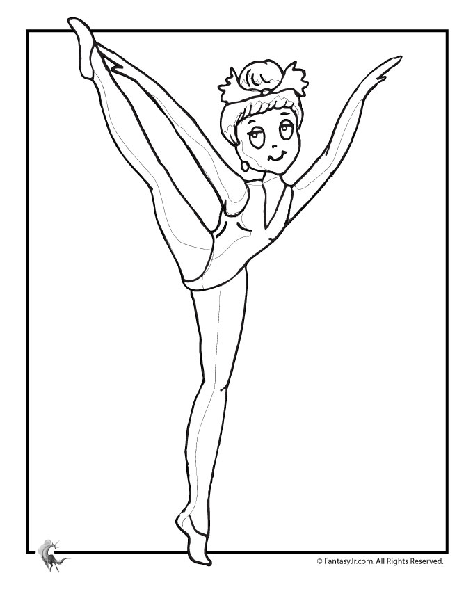 cute ballerina coloring page