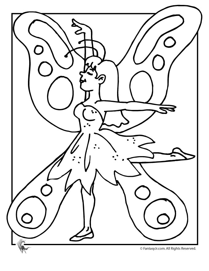 cute fairies coloring pages - photo#6
