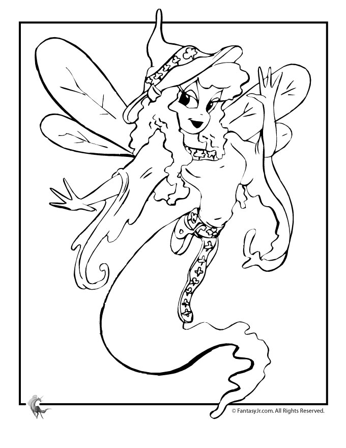 genie coloring pages Genie Fairy Coloring Page | Woo! Jr. Kids Activities genie coloring pages