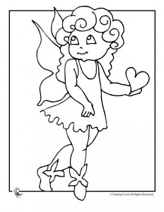 cute and easier fairy coloring pages