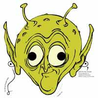 Printable Alien Mask