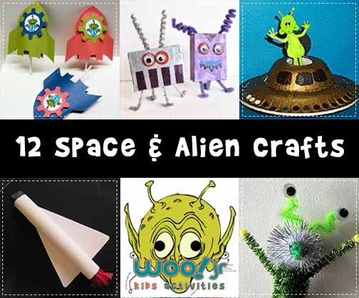 12 Space Alien Crafts For Kids