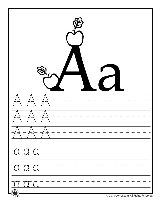 Learning Abcs Worksheets Woo Jr Kids Activities