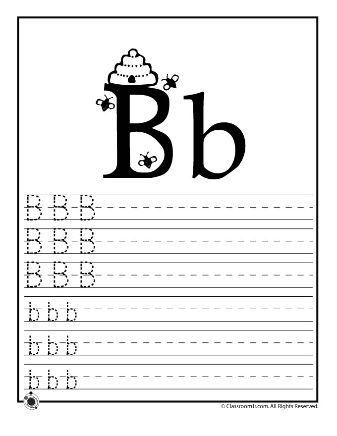 Learn Letter B Woo Jr Kids Activities