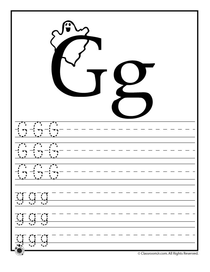 Learn Letter G Woo Jr Kids Activities – Letter G Worksheets for Preschool