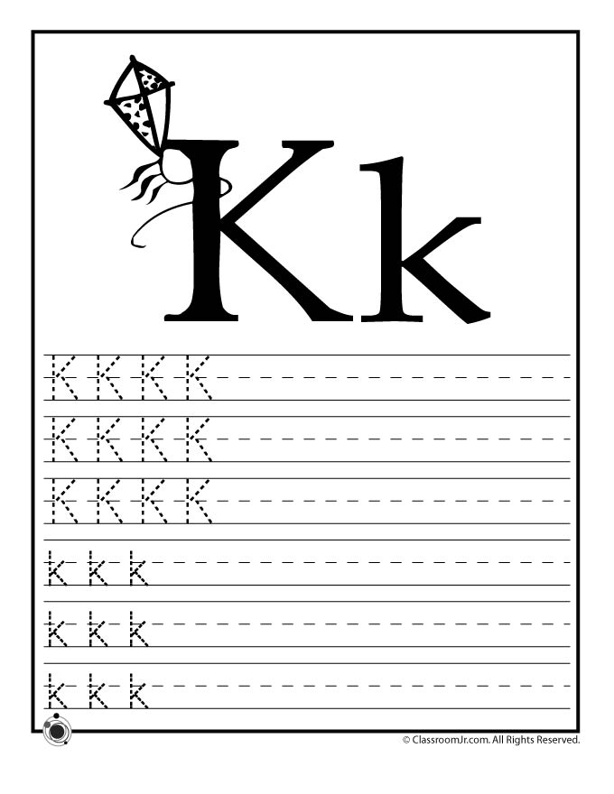 Learn Letter K - Woo! Jr. Kids Activities