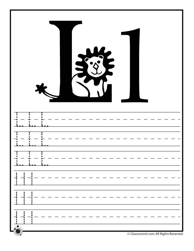 Learn Letter L Woo Jr Kids Activities – Letter L Worksheets
