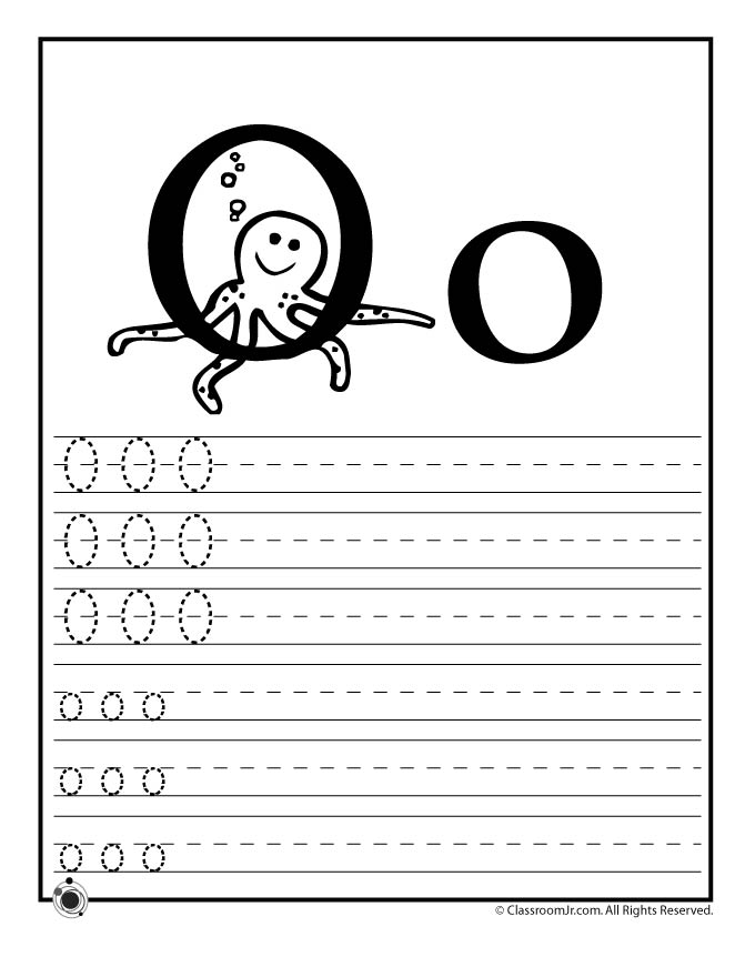 Learn Letter O Woo Jr Kids Activities – Letter O Worksheets Preschool