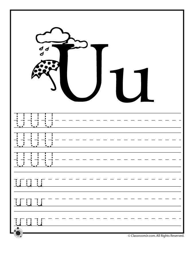 letter u worksheets learn letter u woo jr activities 15018