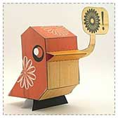 Mod Spring Chick Papercraft