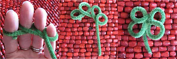 How to Make Pipe Cleaner Shamrocks