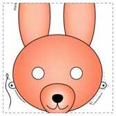 printable bunny masks Printable Easter Crafts