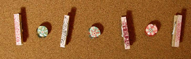 Bulletin board thumbtacks and tack clips