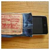 Cell Phone Case to Sew from Recycled Jeans