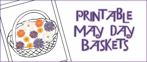 printable may day baskets may day coloring pages woo jr kids activities - Free Printable Crafts For Kids
