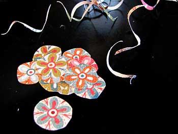 Paper Cutouts for Marble Thumbtacks