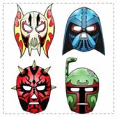Printable Star Wars Lucha Libre Masks