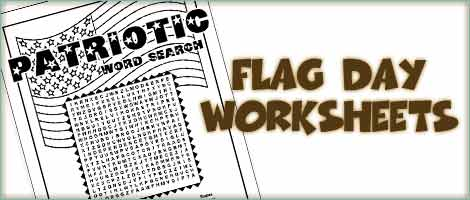 Flag Day Word Search La Woo Jr Kids Activities