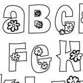 Printable Flower Letters