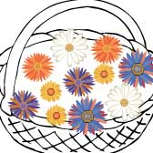 Printable Flowers and Baskets