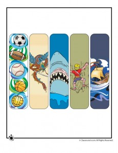 Printable Summer Bookmarks for Boys