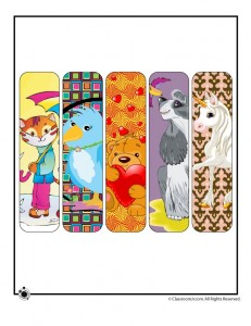 Printable Animal Bookmarks for Girls