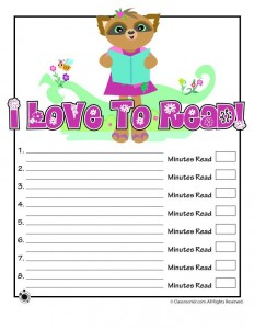 Cute Printable Reading Log