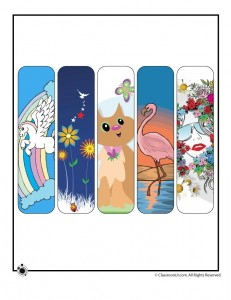 Printable Summer Bookmarks for Girls