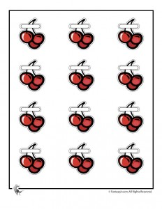 Ice Cream Party Game - Pin the Cherries