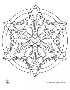Butterfly Kaleidoscope Coloring Page