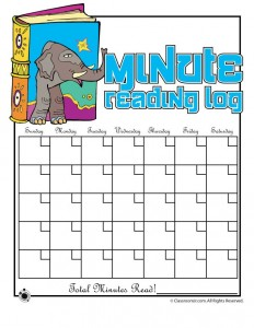 Printable Minute Reading Log