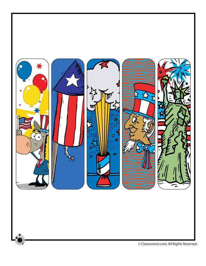 Printable 4th Of July Bookmarks Woo Jr Kids Activities