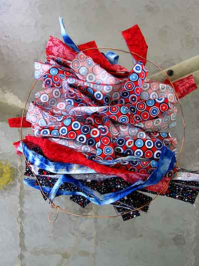 4th of July Rag Wreath Materials
