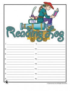 Explorer Girl Reading Log to Print