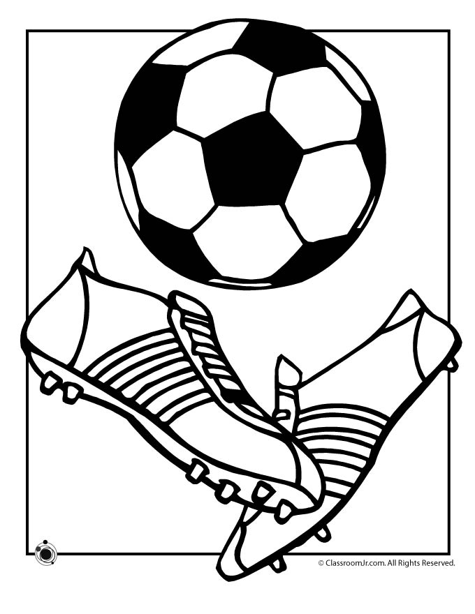 Soccer ball coloring page woo jr kids activities