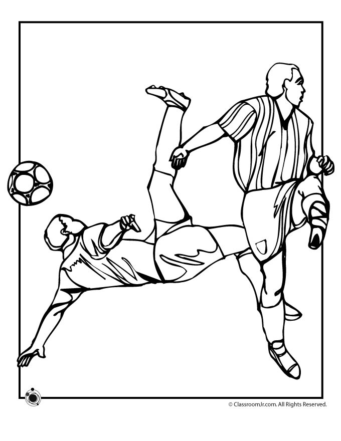 Soccer Coloring Page | Woo! Jr. Kids Activities