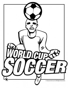 World Cup Soccer Coloring Pages