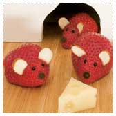 Strawberry Mice Snacks