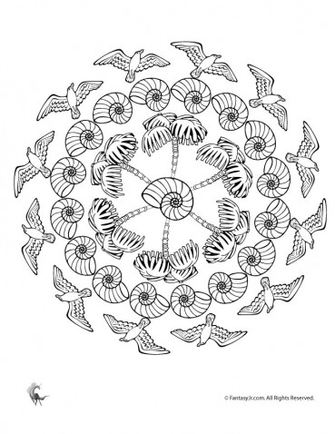 Summer Mandala Coloring Pages